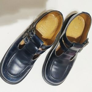 Dr. Martens Blue Leather Mary Janes
